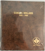 Dollars Canada 1935-1986 Unimaster Brown Vinyl Coin Binders