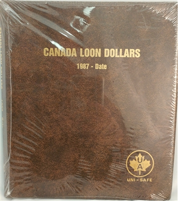 Loon Dollars 1987-Date Unimaster Brown Vinyl Coin Binders