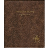 Unimaster Paper Currency Brown Vinyl Binder