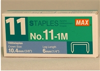 1000 Staples (1 box) for the SMALL Hand Held Self Crimping Stapler
