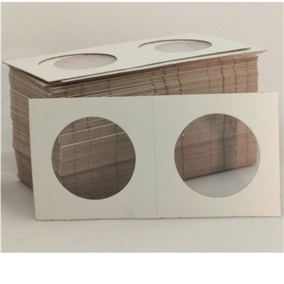 100x Crown Size Cardboard Holders - 2.5 x 2.5