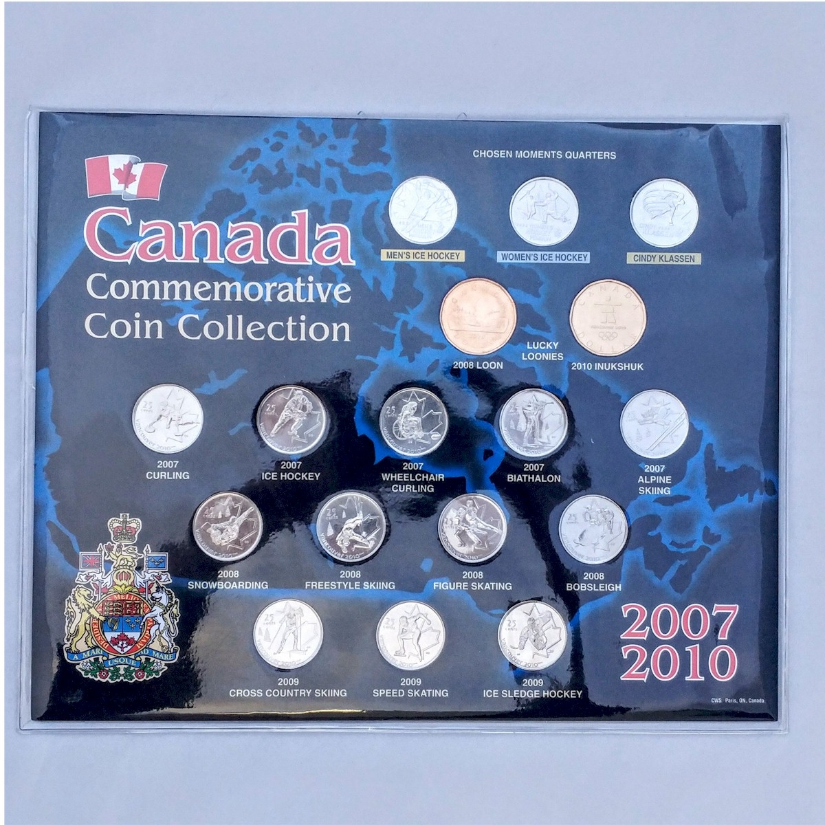 2007-2010 Vancouver Olympics Canada Commemorative Board<b> with ...