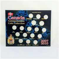 2007-10 Olympic Empty 17-coin Square Board - includes sleeve
