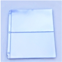 2-Pocket 3-ring Rigid Binder Pages for Graded Currency Notes