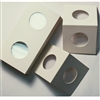 50x 25-cent Size Cardboard 2x2 Holders