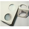 50x Silver or Nickel $1.00 Size Cardboard 2x2 Holders