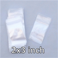 100x Reclosable Bags 2x3 inches (2 mil).