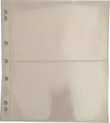 2 Pocket Page Sheet for Numis 4-Ring Binder (pack of 5) NH2
