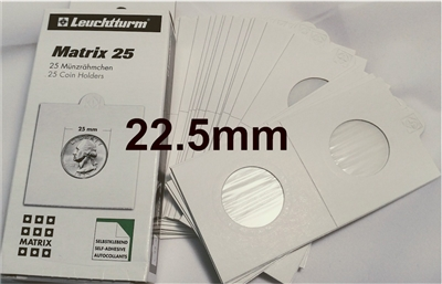 25 x Self-Adhesive Cardboard 2x2 Holders - 5ct size - 22.5mm