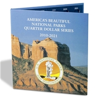 2010-2021 America's National Parks Quarters Generic Album - 1 Mint