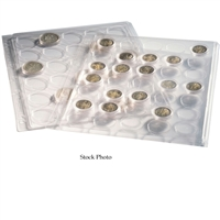 Numis Clear ENCAP Pages for 20x 38/39 Coins in Capsules