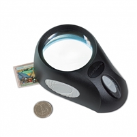 LED Desk Magnifier BULLAUGE 5x width 3 light settings - 345409.