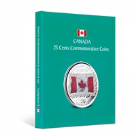 Kaskade Coin Album for Canadian Commemorative 25 cent - Teal Coloured