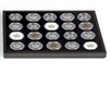 Volterra Extra Tray - Silver Maple Leaf Deluxe Black Box (20 spaces)