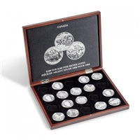Volterra Luxe Black Wooden Box for 20x Canada $100 for $100 coins