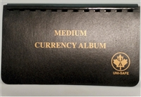 "Medium Currency Album - 4x7"" contains 10 pages for Paper Money"