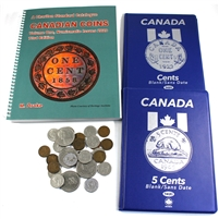 Starter Coin Kit with Charlton Coin Catalogue and 2 x Unisafe Blue books