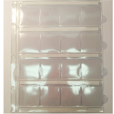 16 pkt Replacement pages for Unimaster Brown Albums.