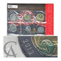 2013 Canada Type 2 Uncirculated Proof Like Set ($2 has Doubling of the date)