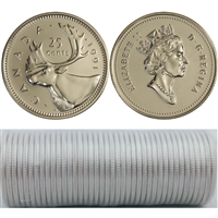 1991 Canada 25-cent Original Roll of 40pcs