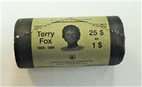 2005 Canada Special Wrapped Terry Fox Dollar Original Roll of 25pcs.
