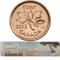2012 Canada 1-cent Special Wrap Roll - The Last Million Pennies