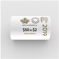 2019 Canada $2 Special Wrap Original Roll of 25pcs