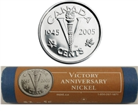 2005 Canada VE Day (Victory) 5-cent Roll of 40pcs - Special Wrapping