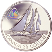 2000 Canada $20 Transportation Ship - The Bluenose Sterling Silver
