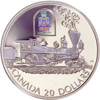 2000 Canada $20 Transportation Train - The Toronto Sterling Silver
