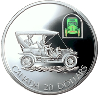 2001 Canada $20 Transportation Car - Russell Light Four Sterling Silver