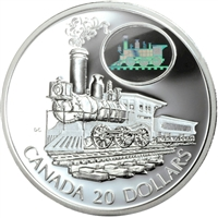 2001 Canada $20 Transportation Train - The Scotia Sterling Silver Coin