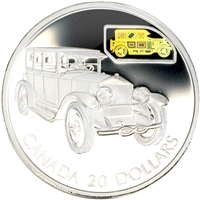 2002 Canada $20 Transportation Car - Gray-Dort 25-SM Sterling Silver