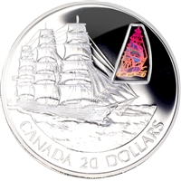 2002 Canada $20 Transportation Ship - William Lawrence Sterling Silver