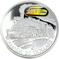 2002 $20 Transportation Train - Canadian Pacific D10 Sterling Silver