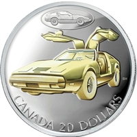 2003 Canada $20 Transportation Car - The Bricklin Sterling Silver