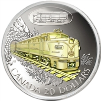 2003 Canada $20 Transportation Train - CNR FA-1 Sterling Silver