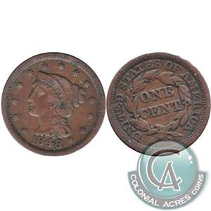 1848 USA Cent Very Fine (VF-20)