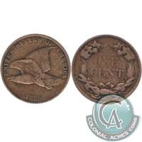 1858 Large Letters USA Cent F-VF (F-15) $