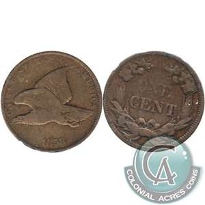 1858 Small Letters USA Cent F-VF (F-15) $