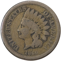 1860 Broad Bust USA Cent G-VG (G-6)
