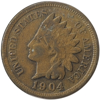 1904 USA Cent VF-EF (VF-30)