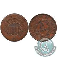 1864 Large Motto USA 2-cents VF-EF (VF-30)
