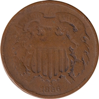 1866 USA 2-cents Good (G-4)