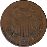 1870 USA 2-cents Very Good (VG-8)