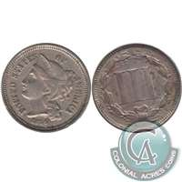 1866 Nickel USA 3 Cents VF-EF (VF-30)