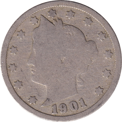1901 USA Nickel Good (G-4)