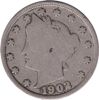 1902 USA Nickel Good (G-4)