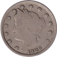 1908 USA Nickel G-VG (G-6)