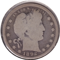 1892 USA Quarter Good (G-4)